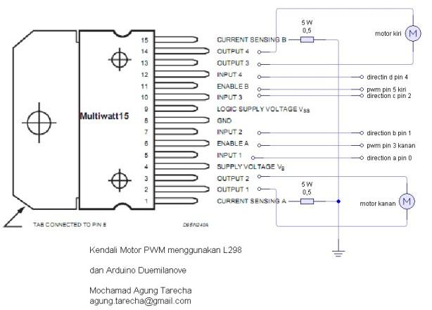 L298 n Arduino Schematic
