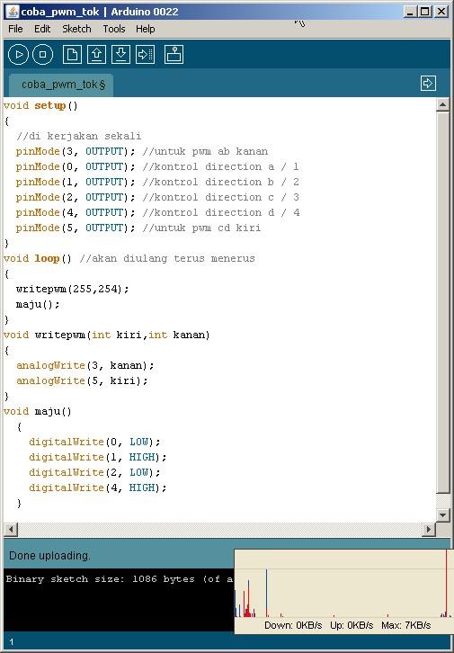 Code PWM sederhana