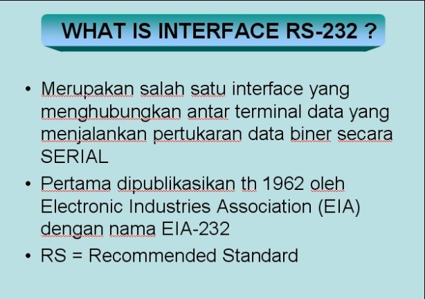 Definisi RS 232
