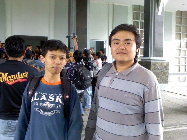 dengan Hudan saat rusuh pemira 2011