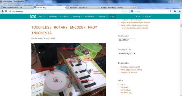 Masuk Blog Arduino.cc