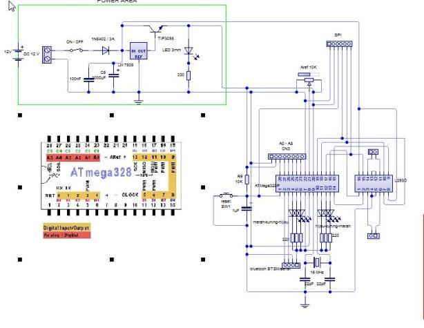 skematik arduino linetracer