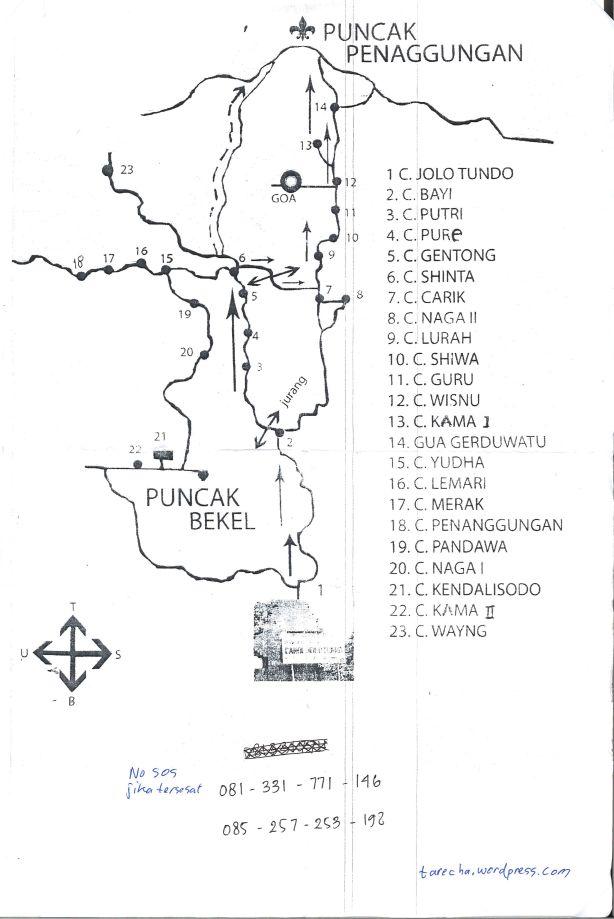 Jalur Pendakian Gunung Penanggungan via Jolotundo