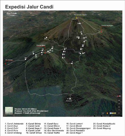 Peta Pendakian Gunung Penanggungan