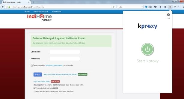 Form login indihome