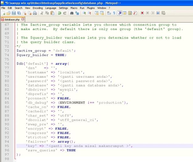 Setting Database