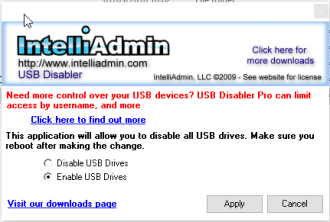 Disable usb